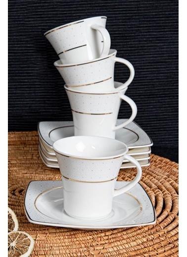 Güral Porselen Güral Porselen Caroline Kahve Fincan Takımı 12 Parça GBSCR12KT8305113 Renkli